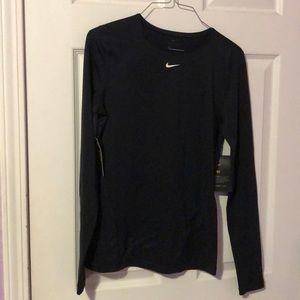 Nike Dri-fit long sleeve in black (never worn)